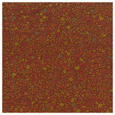 Salsa Red With Gold Textured Pebbled Upholstery Fabric 2178-832 Solange Salsa