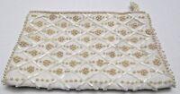 Vintage La Regale Product Japan Beaded Clutch Bag Purse Faux Pearl Beads
