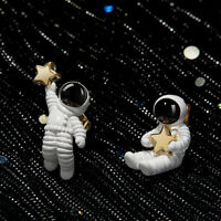Cute Asymmetrical Space Astronaut Stud Earrings For Women Fashion Jewelry Gifts