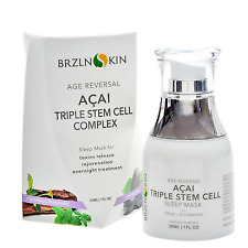 BRZLNSKIN Acai Triple Stem Cell Overnight Face Mask Sleep Complex Age Reversal