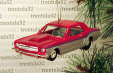 '64½ FORD MUSTANG 1964½ MAGENTA HOT ROD DRAGSTER CHRISTMAS TREE ORNAMENT XMAS