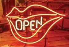 """Open Lips Neon Light Sign Display Shop Store Beer Bar Club Signage 17x14"""""""