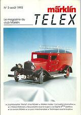 Märklin Telex # 3 1993 Alaska railroad Avion train réseau ferré