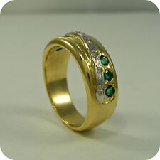 18 carat Gold Emerald and Diamond Ring