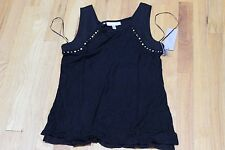 JENNIFER LOPEZ TOP SIZE PETITE SMALL  TRIBAL LUXE  RAYON  BLACK   NEW WITH TAGS