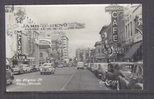 NEVADA, RENO, North Virginia St., c1950 real photo ppc., unused.