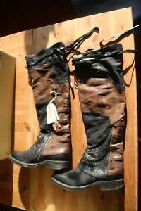"A.S.98Airstep OLIPStiefel / Boots Leder ""NERO-CHOCO-NERO "" 259301"