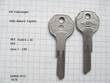 5x OPEL Rohling Schlüssel YM28P für verschiedene Modelle Oldtimer