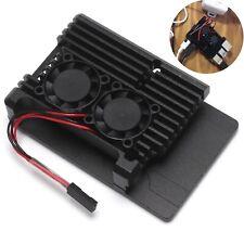For Raspberry Pi 4B Protect Box CNC Aluminum Alloy Case Enclosure Cooling Fan