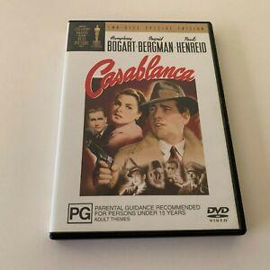 CASABLANCA - Humphrey BOGART Ingrid BERGMAN Paul HENREID (2 DVD SET) Region 4