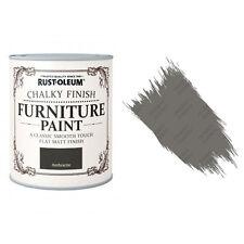 Rust-Oleum Craie Crayeux Meuble Peinture Usé Chic 750ml Anthracite Mat