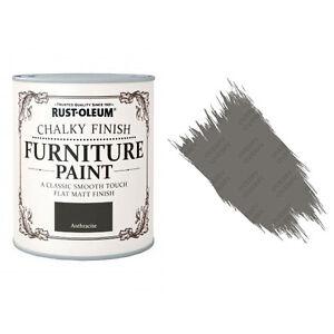 Sale Rust-Oleum Chalk Chalky Furniture Paint Chic Shabby 750ml Anthracite Matt