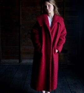 vintage 1940s gray black curly lamb wool coat  WWII swing rockabilly  Mongolian wool winter coat size largeXlarge