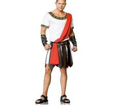 Mens Adult Julius Caesar Roman Greek Emperor Warrior Fancy Dress Party Costume