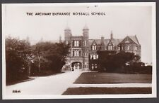 Postcard Fleetwood Lancashire view of The Archway Entrance at Rossall School RP