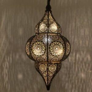 Orientalische Indische Hängelampe Deckenlampe Jaya Schwarz