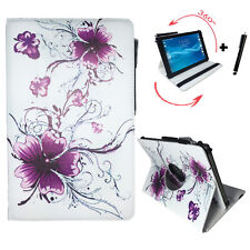 10.1 zoll Tablet Tasche Huawei MediaPad T2 10.0 Pro LTE - 360° Lila Blumen Motiv
