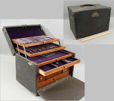 Antique Dental Dentist Tool Chest & Tools, Oak Case Collection Cabinet Drawers