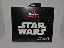 Star Wars Womens 12 Day of Socks Shoe Size 4-10  661128917351