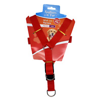 "Dog Harness -RED - Fits chest up to 70cm or 27.5"" Inch Brand New"