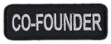 Motorcycle Biker Jacket/Vest Patch - Co-Founder - Member Rank, Position, Status