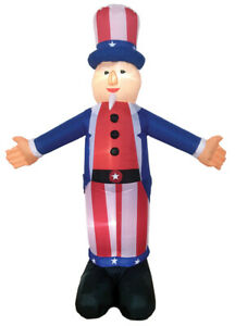 JULY 4TH PATRIOTIC UNCLE SAM   6 FT AIRBLOWN INFLATABLE YARD DECORATION