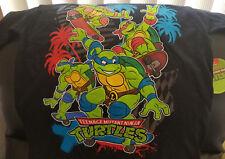 Nickelodeon Teenage Mutant Ninja Turtles Black Skateboarding Shirt Boys L NWT