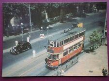 POSTCARD LTM 101 LONDON E/3 TYPE TRAM CAR ON VICTORIA EMBANKMENT JULY 1952