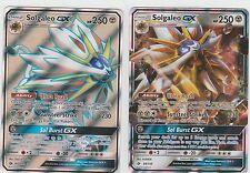 2x LOT Pokemon SUN & MOON Gx + FULL ART Solgaleo 143/149 + 89/149 *
