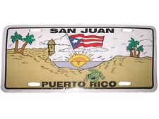 "San Juan Puerto Rico 6""x12"" Aluminum License Plate Tag"