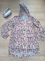 Joules Golightly cream Ditsy floral pink parka raincoat rain mac coat jacket NEW