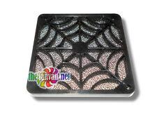 Evercool 80mm Plastic 2 Piece Spider Fan Grill Finger Guard & Filter + Screws!