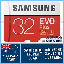 Samsung 32 GB 32G micro SD SDHC EVO Plus 95MB/s Class 10 U1 TF Memory SD Adapter
