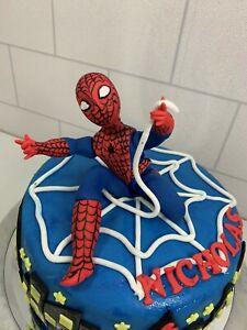 EDIBLE SPIDER MAN CAKE TOPPER DECORATION