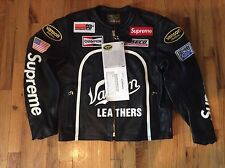 SUPREME X VANSON LEATHER STAR JACKET BLACK SIZE LARGE SS17 DEADSTOCK