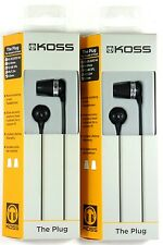 Lot of (2) KOSS 163907 The Plug Earbuds/Earphones for MP3/IPOD/IPHONE/IPAD