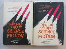 A TREASURY OF GREAT SCIENCE FICTION 2 VOLUMES SFBC PHILIP K DICK RAY BRADBURY