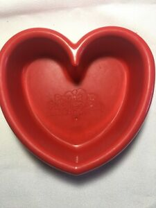 Vtg 1980s Red Pound Puppies Heart Shaped Food Bowl Toy