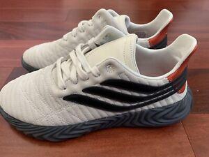 Adidas Sobakov 'Beige With Orange And Black' Mens Size 9.5
