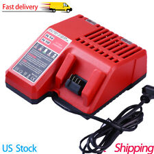 New Lithium Battery Charger Replacement Tool For Milwaukee M18 14.4V-18V Us Plug