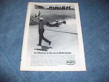 1965 Mobile Gasoline Vintage Racing Ad Al Unser Pikes Peak Hill Climb
