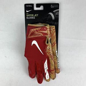 Nike San Francisco SF 49ers Logo Vapor Jet 5.0 Football Gloves LARGE CK2885-633