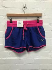 Puma Women's Running Shorts Sports Woven Shorts - Blue/Pink - New