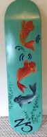 "Custom Skateboard Deck 8"" Hand Painted KOI POND by Ziggy Skate"