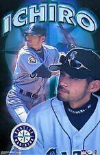 2001 Ichiro Suzuki Seattle Mariners Collage Original Starline Poster OOP