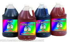SNO SNOW CONE FLAVOR SYRUP - MIX & MATCH (4 x GALLON) Summer Snow Entertainment