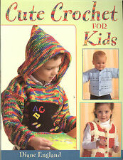 Cute Crochet for Kids-12 projects for clothes-pullovers-cardigans-jackets NEW PB