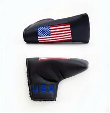 USA FLAG Synthetic Leather Anser Style Putter Cover