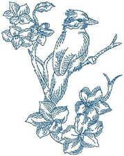 1061:  Machine Embroidery Designs -Birds - Redwork