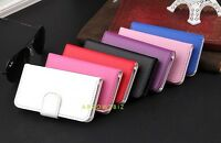 Real Genuine Leather Magnetic Flip Lock Case Stand Cover for Apple iPhone 4 4S